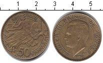 Изображение Монеты Монако 50 франков 1950 Медь XF