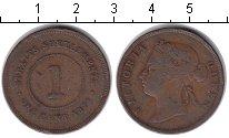 Изображение Монеты Стрейтс-Сеттльмент 1 цент 1874 Медь VF Виктория