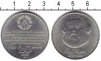 Изображение Монеты ГДР 20 марок 1983 Медно-никель XF Карл Маркс. А.