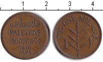 Изображение Монеты Палестина 1 мил 1939 Медь XF Британский мандат.