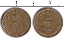 Изображение Монеты Третий Рейх 5 пфеннигов 1939  XF G