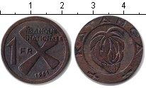Изображение Монеты Катанга 1 франк 1961 Медь XF