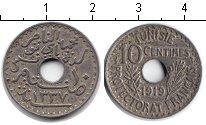 Изображение Монеты Тунис 10 сантимов 1919 Медно-никель  Французский протекто