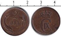 Изображение Монеты Дания 2 эре 1874 Медь XF Кристиан IX