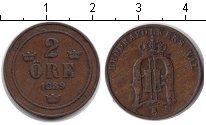 Изображение Монеты Швеция 2 эре 1889 Медь XF