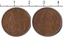 Изображение Монеты Великобритания 1 фартинг 1884 Медь XF