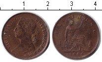 Изображение Монеты Великобритания 1 фартинг 1884 Медь VF