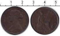 Изображение Монеты Великобритания 1/2 пенни 1862 Медь VF