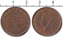Изображение Монеты Цейлон 1 цент 1945 Медь XF Георг VI