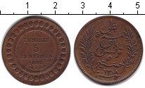 Изображение Монеты Тунис 5 сентим 1891 Медь XF