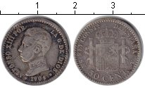 Изображение Монеты Испания 50 сентимо 1904 Серебро VF