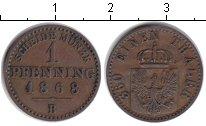 Изображение Монеты Пруссия 1 пфенниг 1868 Медь