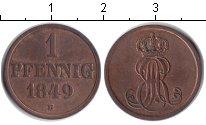 Изображение Монеты Ганновер 1 пфенниг 1849 Медь XF