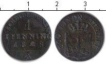 Изображение Монеты Пруссия 1 пфенниг 1828 Медь