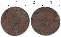 Изображение Монеты Саксония 1 пфенниг 1868 Медь XF