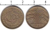 Изображение Монеты Веймарская республика 10 пфеннигов 1935 Медь XF
