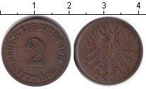 Изображение Монеты Германия 2 пфеннига 1876 Медь