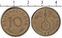 Изображение Монеты Третий Рейх 10 пфеннигов 1938 Медь  G.