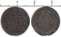 Изображение Монеты Саксония 1/48 талера 1803 Серебро VF