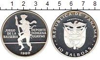 Изображение Монеты Панама 10 бальбоа 1980 Серебро Proof- Balseria Игра