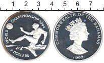 Изображение Монеты Багамские острова 5 долларов 1993 Серебро Proof- Елизавета II. Чемпио