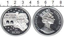 Изображение Монеты Гибралтар 21 экю 1993 Серебро Proof- Елизавета II.