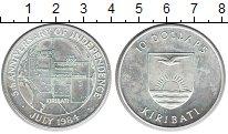 Изображение Монеты Кирибати 10 долларов 1984 Серебро UNC- 5 лет Независимости
