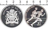 Изображение Монеты Малави 10 квач 1999 Серебро Proof- Олимпиада-2000