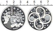 Изображение Монеты Франция 1 1/2 евро 2003 Серебро Proof- Европа.