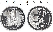 Изображение Монеты Бельгия 500 франков 2001 Серебро Proof- Европа.