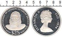 Изображение Монеты Фиджи 25 долларов 1974 Серебро Proof-