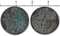 Изображение Монеты Пруссия 1 пфенниг 1860 Медь VF