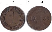 Изображение Монеты Веймарская республика 1 пфенниг 1935 Медь
