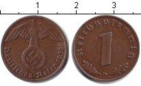 Изображение Монеты Третий Рейх 1 пфенниг 1938 Медь XF D