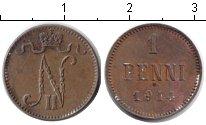Изображение Монеты Финляндия 1 пенни 1914 Медь XF