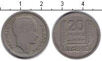 Изображение Монеты Алжир 20 франков 1949 Медно-никель VF