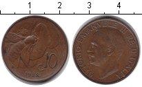 Изображение Монеты Италия 10 сентесим 1922 Медь XF Витторио Имануил III