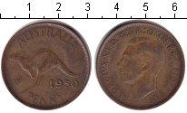Изображение Монеты Австралия 1 пенни 1950 Медь  Георг VI.
