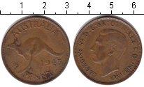 Изображение Монеты Австралия 1 пенни 1943 Медь  Георг VI.