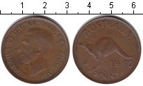 Изображение Монеты Австралия 1 пенни 1952 Медь