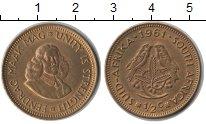 Изображение Монеты ЮАР 1/2 цента 1961  XF Две птички