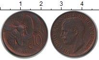 Изображение Монеты Италия 10 сентесим 1921 Медь XF