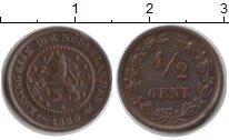 Изображение Монеты Нидерланды 1/2 цента 1885 Медь XF