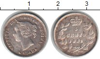 Изображение Монеты Канада 5 центов 1881 Серебро