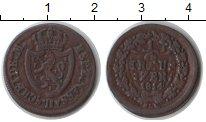 Изображение Монеты Нассау 1/4 крейцера 1814 Медь