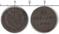 Изображение Монеты Нассау 3 крейцера 1826 Серебро VF