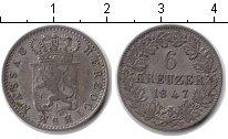 Изображение Монеты Нассау 6 крейцеров 1847 Серебро XF