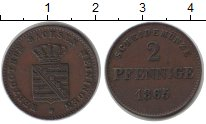 Изображение Монеты Саксен-Майнинген 2 пфеннига 1865 Медь XF