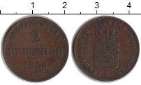Изображение Монеты Саксен-Майнинген 2 пфеннига 1868 Медь