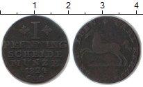 Изображение Монеты Брауншвайг-Люнебург 1 пфенниг 1824 Медь